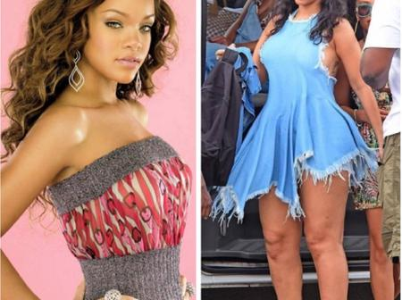Check out then and now pictures of Rihanna