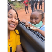 Check out Erica's reaction as she meets a little fan (video)
