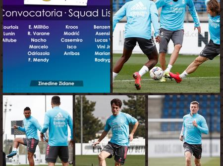 Two Real Madrid stars return to Full Training as Madrid Release the Squad for their next match