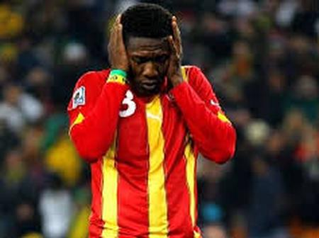 Asamoah Gyan Reacts Against Joyfm's Recent Post On His Penalty Loss