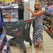 Lady uses her underwear as makeshift Face mask in a supermarket