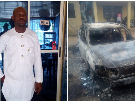 A surviving police officer from Owerri reveals what happened to him and his car as he praises God