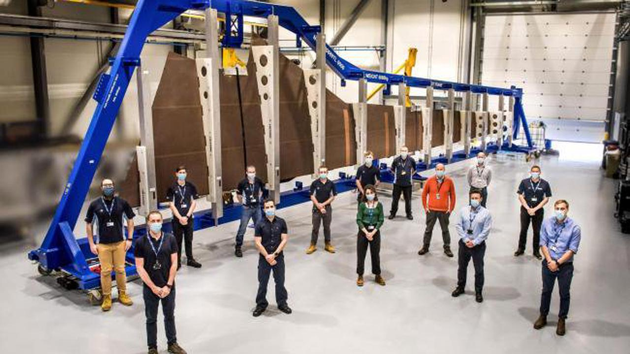 Airbus begins assembly of first 'eco-wing' prototype at Broughton