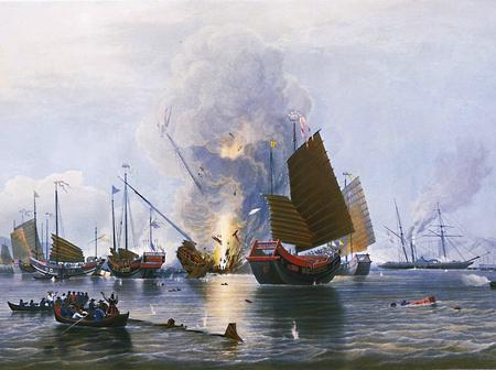 Britain ruled Hong Kong for over 100 years because China destroyed Opium owned by British merchants.