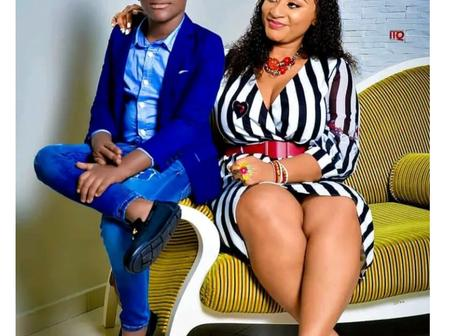 Beautiful Photos Of Kumawood Actress Ellen White And Her Handsome Son