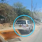 Sad! Anonymous Writings Spotted Behind This Subaru That Has Left Kenyans Talking