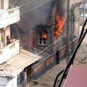 Sars: See Sanwo-Olu's Family House, Brt Bus Station, NPA building and Others Set On fire By Mobs