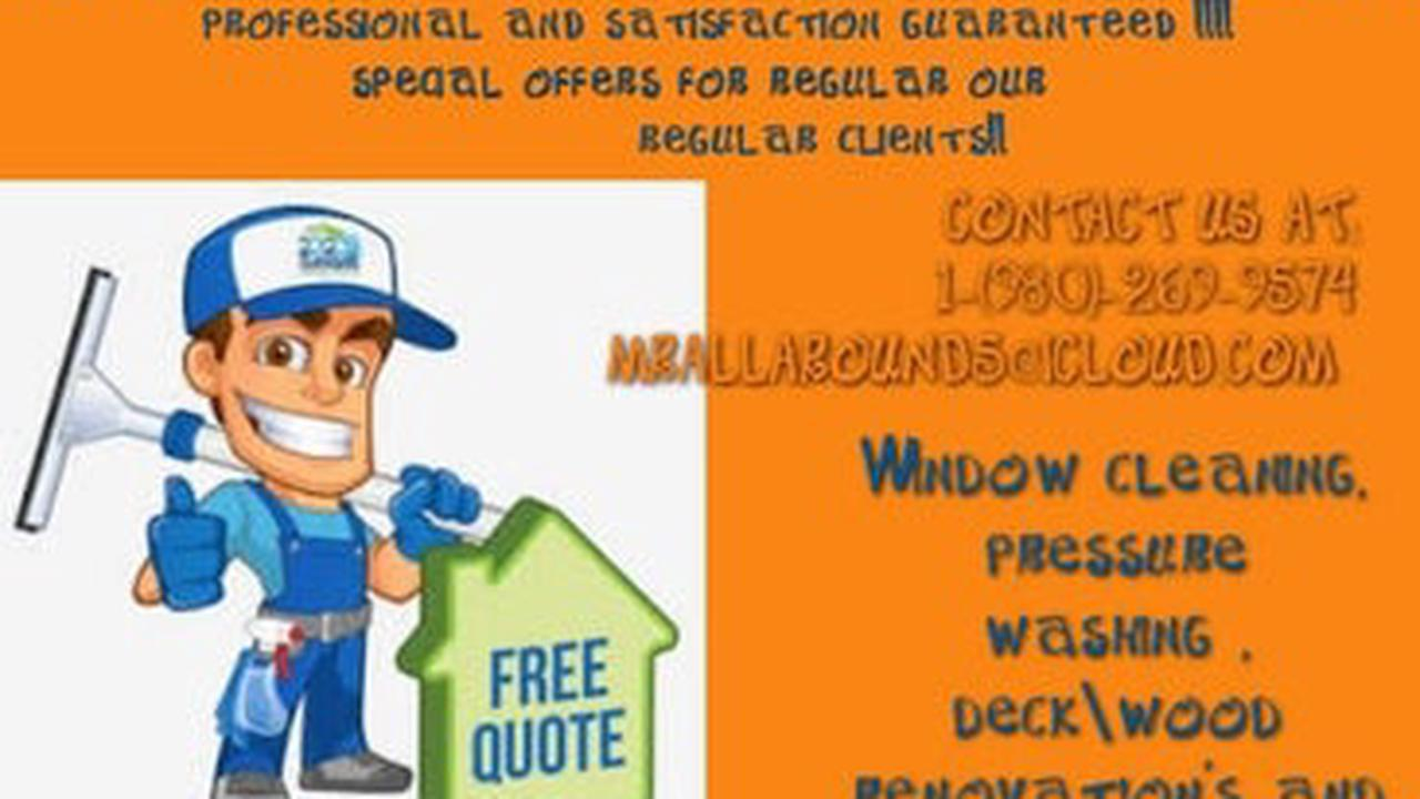 Painting, window cleaning and much more!