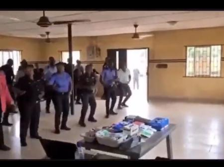 Police Officers Seen Dancing To Naira Marley's Song 'Soapy' [Watch Video]