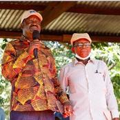 Raila Gives A very Touching Story About, John Mwavuda, His Prison Guard He Met Today at Mbololo