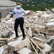 Ex Girlfriend to Wealthy Businessman Who Demolished A Maisonette Poses For Photos On the Debris
