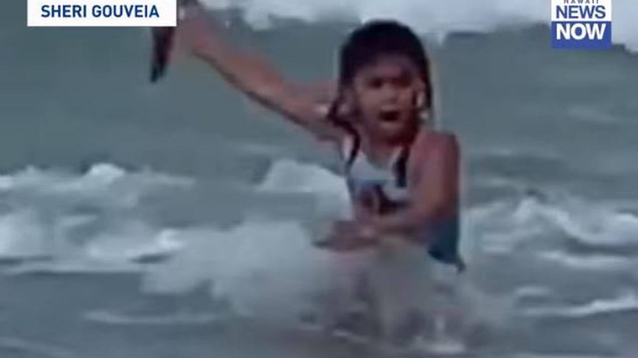 Girl, six, felt her 'soul leave her body' after close encounter with shark