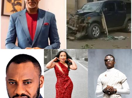 See Pictures Of Wizkid And 4 Other Nigerian Celebrities That 'Cheated Death' After A Fatal Car Crash