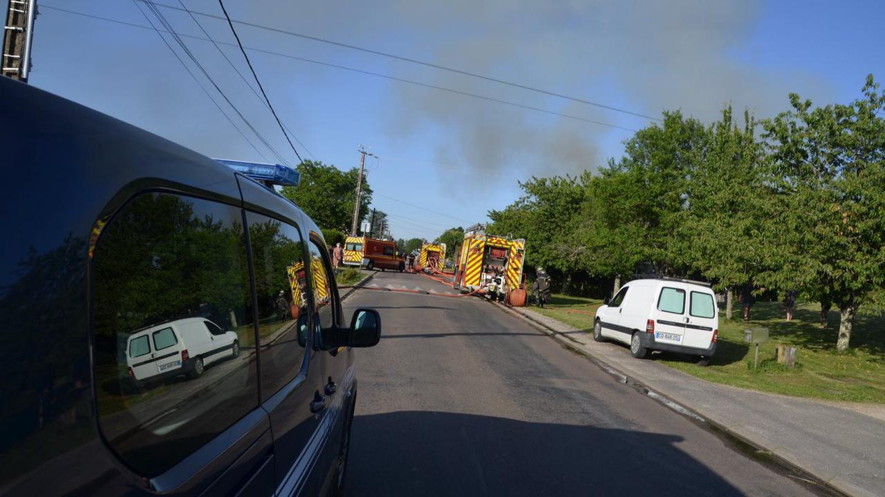 Maison détruite par les flammes à Ancier: une personne relogée