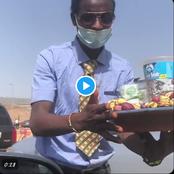 Video: Fulani Man Sealing Kola Nuts On Corporate Wear, Blessed By Senator Sani That Spark Reaction