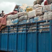 Daloa : plusieurs tonnes de faux médicaments découvertes dans un camion de banane et riz