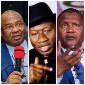 Today's Headlines: Goodluck Jonathan Meets Uzodinma, Kogi Group Names Dangote Africa's Best