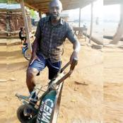Man narrates how he dropped out of medical school to become a wheelbarrow pusher