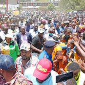 Photos Of A Huge Crowd Of People That Turned Up To Welcome The Deputy President In Embakasi