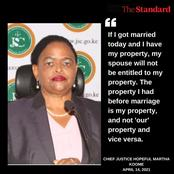 How Justice Martha Koome Answered Questions While On Live Interview For CJ Seat