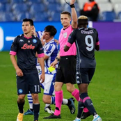 Osimhen receives his first ever red card as Napoli beat Sociedad 1-0