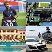 """Neymar is so Rich""- See pictures of his Mansion, fleets of cars and Yatch, worth millions. (Photos)"