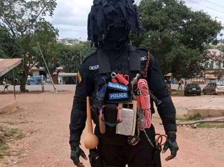 Is This A Nigerian Masquerade Or A Ghanaian Police Officer? (Pictures)