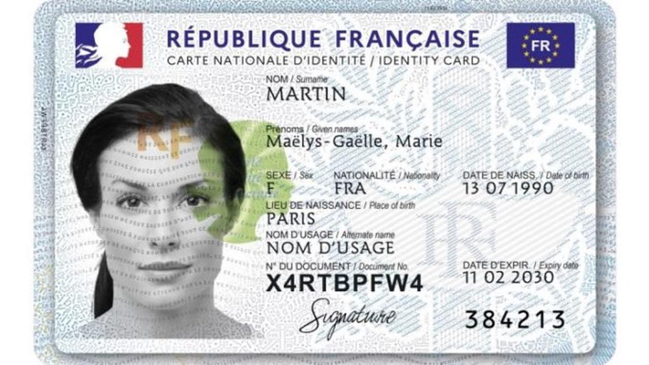Une nouvelle carte d'identité avec puce électronique et QR code à partir du lundi 2 août