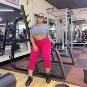 Photo: Moyo Lawal shows herself in the gym