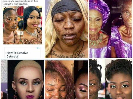 18 Nigerian Make-up Transformation Photos that may leave you speechless