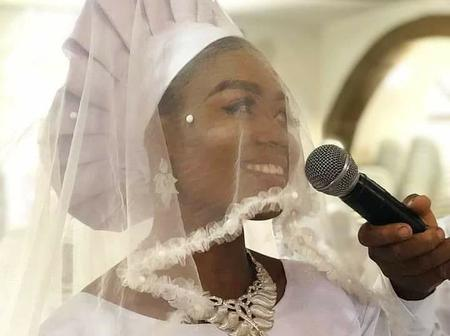 See how this celestial lady dressed for her church wedding