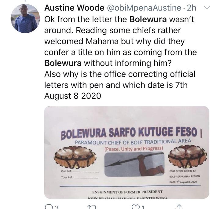 ac51e47f4b98b3b989893165c94da051?quality=uhq&resize=720 - See some reactions of Ghanaians after Bole Chief exposed his own son, John Mahama