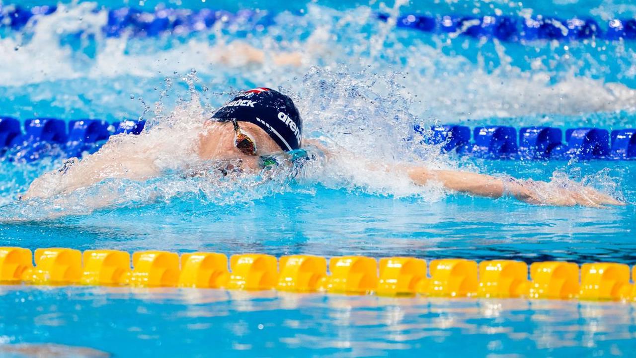 Felix Auböck im Schwimm-Finale über 1.500 m Kraul Siebenter