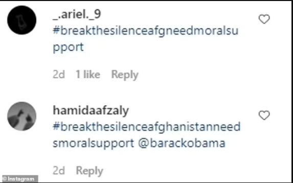 Barrack Obama suspends Instagram comments after followers flooded his page with pleas to help Afghan people amid Taliban takeover