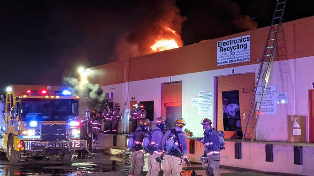 Fire causes $1M in damage to warehouse near the Strat