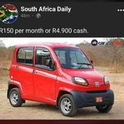 Mzansi here is a car you can afford.