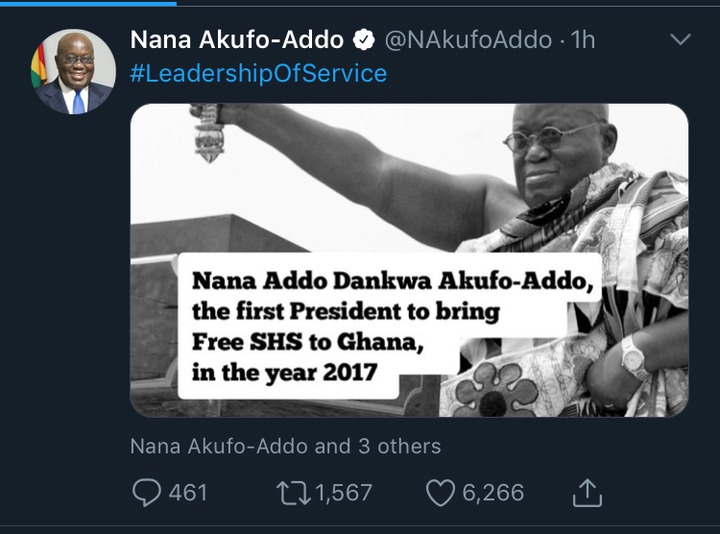 acbc9cdb235ff904dc41998b02259eeb?quality=uhq&resize=720 - Nana Addo Reacts To The Trending Meme That He Is The First President To Bring Free SHS To Ghana