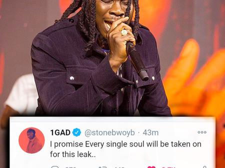 I Will Take On Every Single Soul For This Leak - Stonebwoy threatens