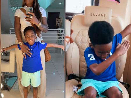 Reactions As Tiwa Savage And Her Son Stuns In A New Picture