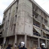 Voici l'image de l'immeuble fissuré dans le quartier de Yopougon qui inquiète les internautes