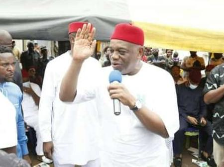 Abia Bye-election: Senator Orji Uzor Kalu Visits Aba Market, Campaigns for Younger Brother (PHOTOS)