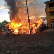 Kericho Traders Count Losses as Fire Razes Down Goods of Unknown Value