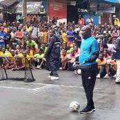 Former Fifa Ballon Dio'r And Current Liberian president Still Plays Football