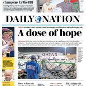 Thursday Newspapers Headline