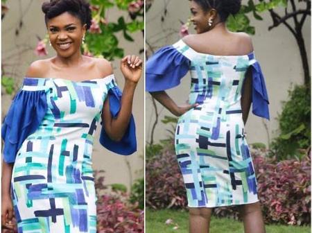 Fashion: Checkout Beautiful Photos Of Actress Omoni Oboli On Ankara Off Shoulder Style