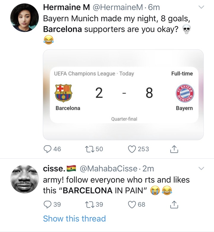 ad37782320187ed103e3e85c42af829e?quality=uhq&resize=720 - See how football fans trolled Barcelona after losing 8 goals to 2 against Bayern Munich