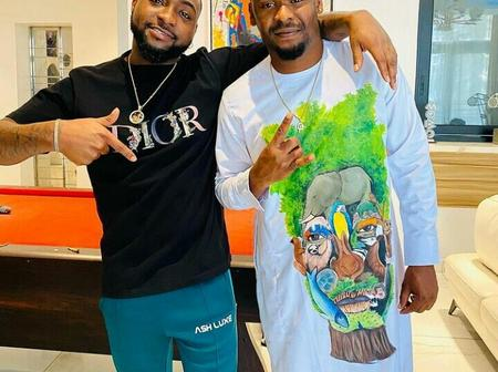 Davido, Others React As Zubby Michael Shares New Photo With Davido