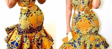 Checkout These Amazing Stylish Off-shoulder Ankara Gowns