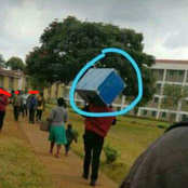 University fresher Spotted Carrying a metal box Elicites mixed reactions