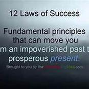 12 Laws of Success Cheat Sheet